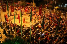 OSMANELİ PEOPLE CELEBRATED THE DEMOCRACY WATCH WITH JANISSARY BAND MEMBERS
