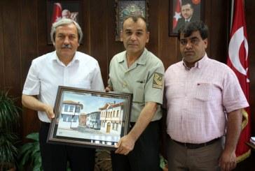 OSMANELİ JANDARMA KOMUTANI MERDAN AKBULUT'TAN BAŞKANIMIZA VEDA ZİYARETİ