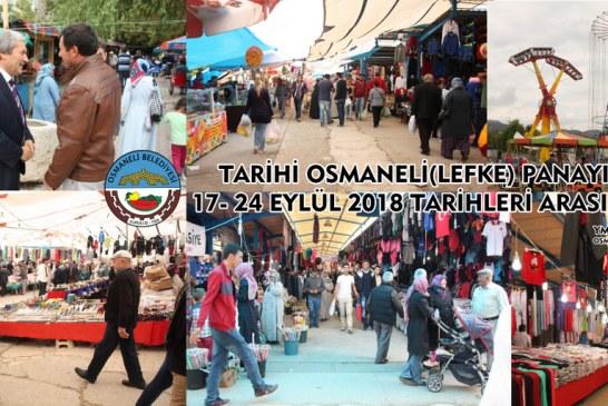 TARİHİ OSMANELİ PANAYIR'I 17-24 EYLÜL TARİHLERİ ARASINDA