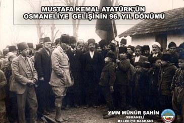 17 OCAK 1923'TE GAZİ MUSTAFA KEMAL ATATÜRK ANADOLU GEZİSİNE ÇIKTIĞINDA OSMANELİ'YE UĞRAMIŞTIR.