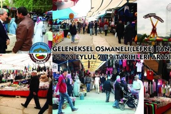 TARİHİ OSMANELİ PANAYIRI (15-23.EYLÜL.2019) BAŞLADI