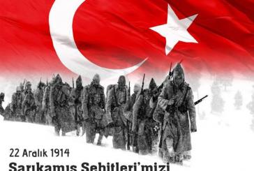 22.ARALIK.2014 SARIKAMIŞ ŞEHİTLERİMİZİ RAHMETLE,DUA İLE ANIYORUZ.